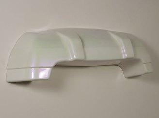 """reinforced ceramic, automotive paint, 46"""" x 51"""" x 5"""", 2008"""