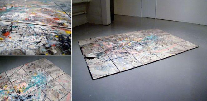 2010, 4 x 6', re-glazed ceramic tile