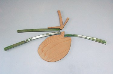"ceramic, plywood, magnets, 24"" x 14"", 2010"