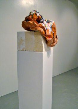 "2009, 65 x 12 x 16"", ceramic, glaze, carved softbrick"