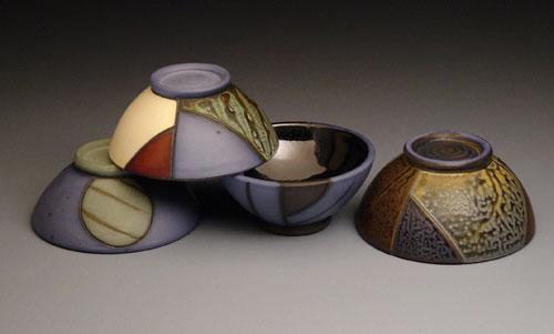 cone six, terra sigillata, and high cobalt black liner glaze