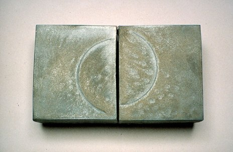 """8""""h. x 12""""w. x 3""""d."""", reduction fired stoneware"""