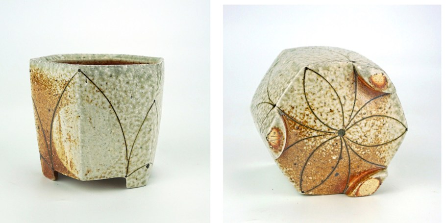 ^10 Gas-Soda Fired Stoneware, Slip, 2017, Approx. 3x3x4 inches