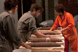 During two shifts a day, we invited the audience to make Mark V Dummy Terra Cotta test bombs with us.