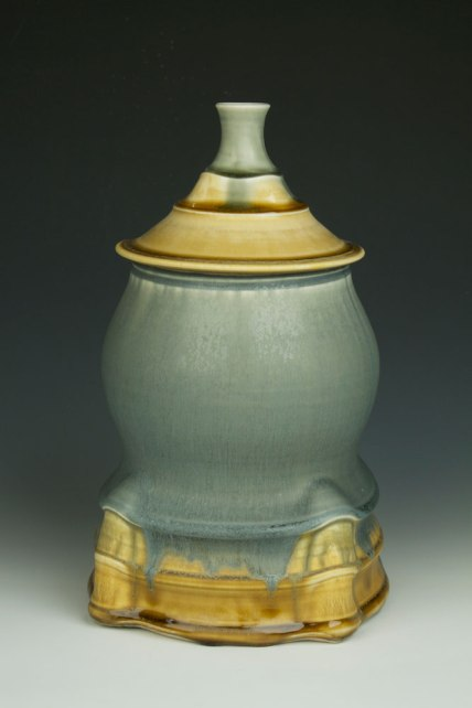 """Porcelain, wheel thrown and wet altered, Cone 10, oxidation fired, H: 13"""" x D: 9"""", 2013"""