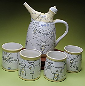 "Ann Ruel, ""What Would We Miss Without Bees Teapot and Cup Set"""
