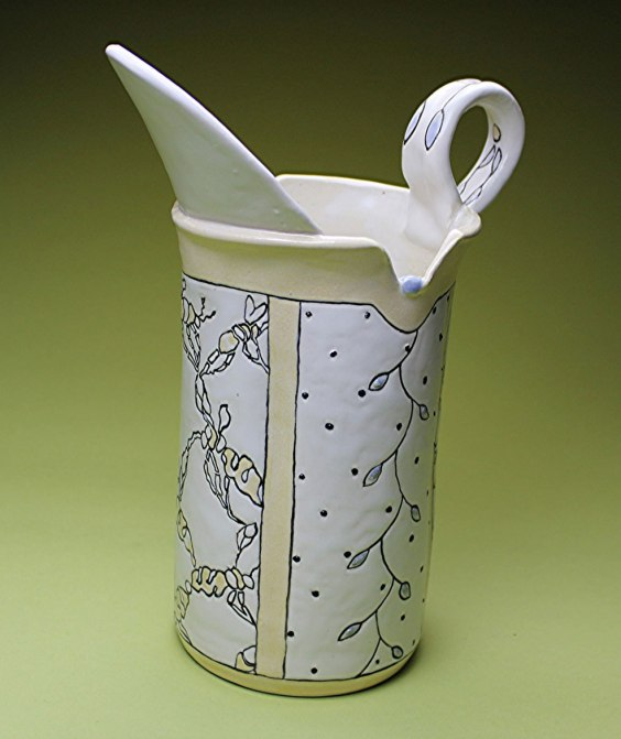 """Ann Ruel, """"Stylized Bees Pitcher"""""""