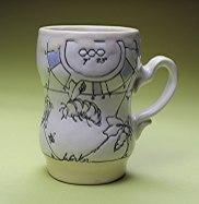 """Ann Ruel, """"Waggle Dance Mug"""""""