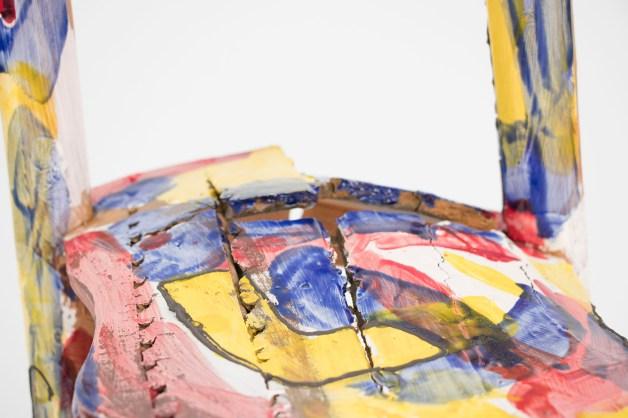 "earthenware, slip, glaze, 12"" x 14"" x 35"", 2017"