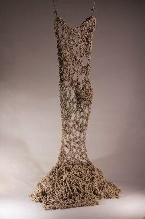 Hand-built stoneware, about 190cm h.