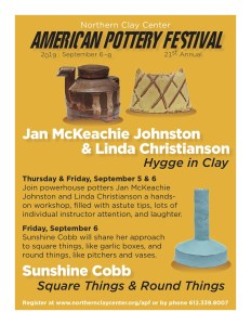Northern Clay Center - American Pottery Festival Pre-Fest-Workshops