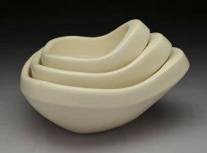 hand-built porcelain, cone 6, 10 x 9 x 6, 2013