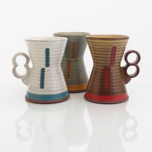 """Eric Van Eimeren, """"Fault line Hourglass mugs"""""""