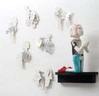 hand-built earthenware sculptures