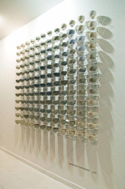 2014, 1.50mx1.50m, glazed stoneware tea bowls, 1260C