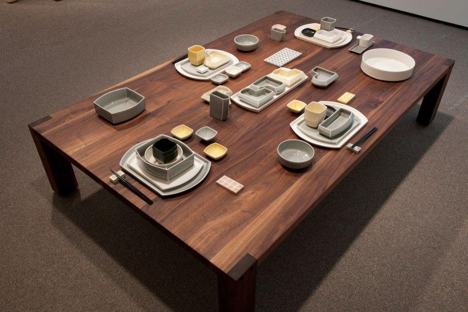 "from ""Rituals of the Maker"" Robert Turner Teaching Fellowship Exhibition, Slip Cast Porcelain, black walnut, 2012"