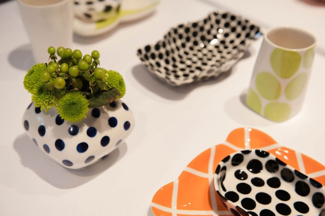 45 person, 5 course dinner at The Boulder Museum of Contemporary Art. May 22, 2014, Slip cast porcelain