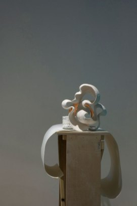 Photo of: Ceramics, Paper and Potters Bench, Dimensions Variable, 2010