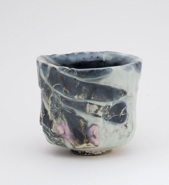 """Pinched Porcelain, Polychrome Slip & Glaze, cone 8, 4 ¼""""x4""""x4"""", 2013"""