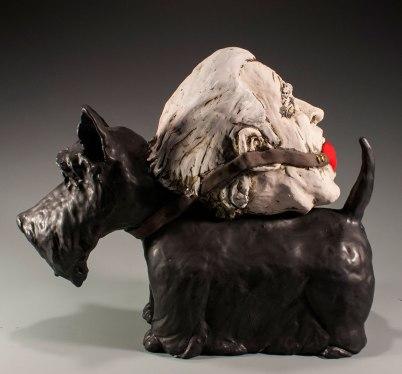 H: 14 x W: 17 x D: 7, Ceramic (low-fire clay, oxides, terra sigillata, underglazes, glaze, goldluster, and electric-fired), 2014