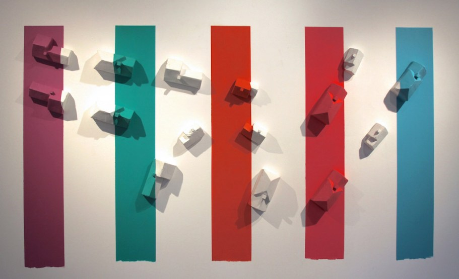 """2014, ceramic and house paint, 6' x 9' x 8"""""""