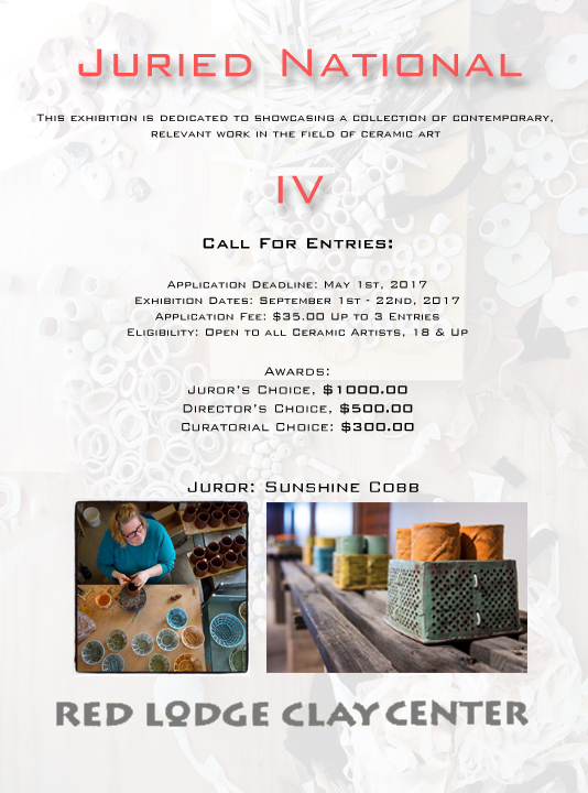 Juried Exhibition flyer - Red Lodge Clay Center