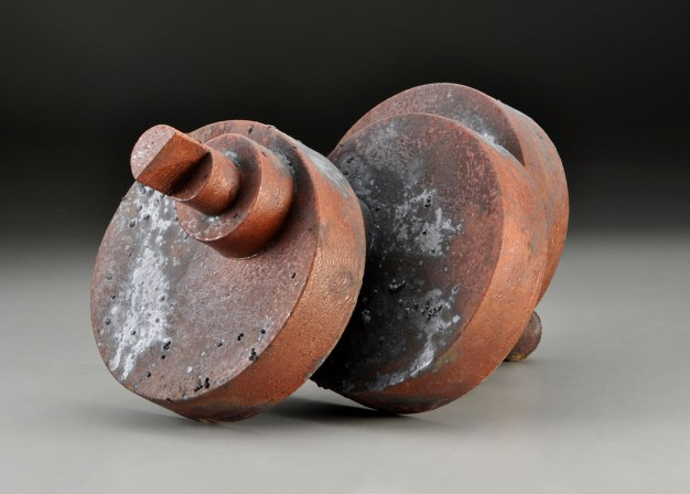 """H 21"""" x W 25"""" x D 7"""" 2015, Wood, Stoneware Fired and Steel Plate"""
