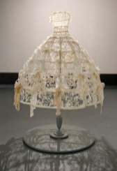 Slump body clay, wire, lace, stand, 5.5 ft. x 4 ft. x 4 ft., 2010