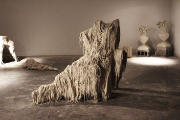Unfired Porcelain, Fiber, Wire, 4ft. x 5 ft. x 3 ft., 2014