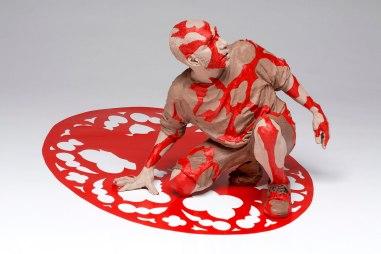 "2013, earthenware acrylic paint, duralar. 19""x24""x41"""