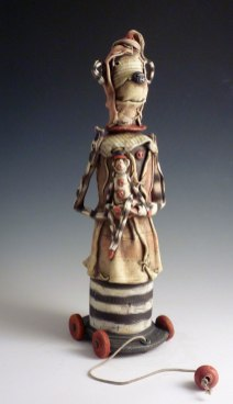 "Earthenware, 24""H x 8""W x 7""d, 2011"