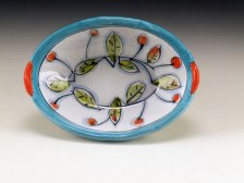 "Small Oval in Persian Colors, Terracotta, 6"" x 4.25""w x 2.5""H, 2011"