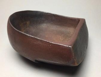 """H 4.5"""" X L 8.5"""" X W 7.5"""" Wood fired Stoneware"""