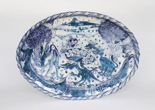 Tin-glazed earthenware, 26 inches across, 2015