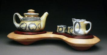 """Ceramic, Paduke and Maple, 9x12x25"""" 2015"""