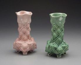 "2015, Porcelain, 7.5"" x 4.5"" x 4.5"" each"