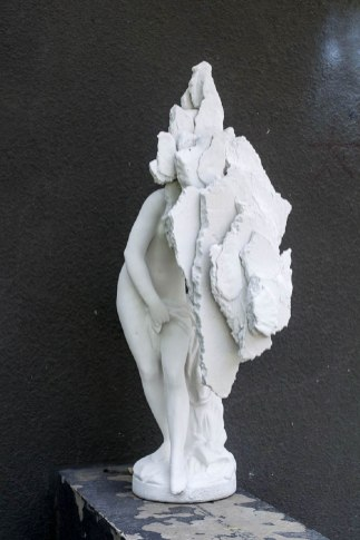 """2015. Plaster, concrete, and polystyrene. 44"""" height."""