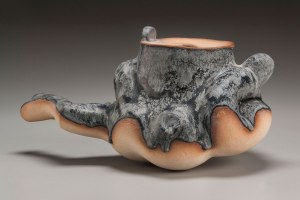 Thrown and altered stoneware and glaze, 2015