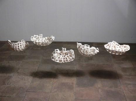 2010, Stoneware, 5 work installation of 5ft W each one