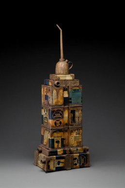 """8 x 12 x 24"""", Porcelain, Earthenware, Fired to maturity cone 5, decal firing to 018, 2012"""