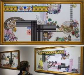 Porcelain Tile, Overglaze Decals (125x27 cm)