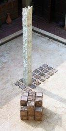 Earthenware, semi refractory clay, red clay, 1100c, 300cm &250cm &375cm, 2005