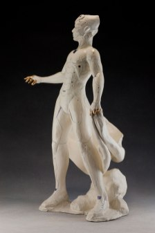 "White Earthenware, Luster, H24"" x L10"" x W7"", 2014"