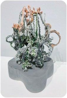 """Porcelain, underglaze, glaze, nichrome wire, 23"""" x 14"""" x 13"""", 2018"""
