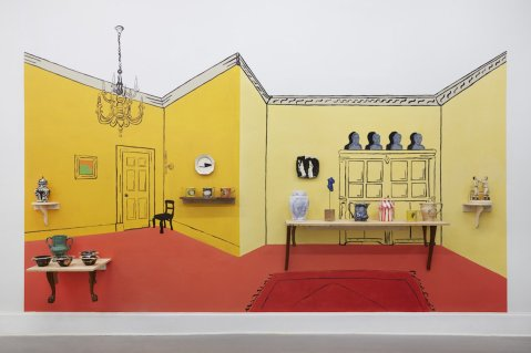 "Ginny Sims, ""A Room from Six Towns"" (north view)"