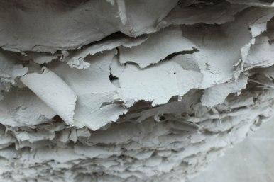 2012, clay slip, fiber insulation, cement, metal rods, 87 x 63 x 63 in.