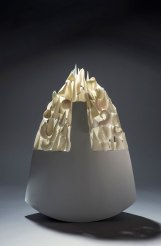 SLIP CASTED AND HAND BUILT PORCELAIN, GLUED AFTER FIREING, YEAR 2016, DIMENSION 44X18, H=63