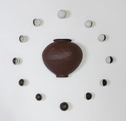 "2014, 45"" X 45"", Terracotta"