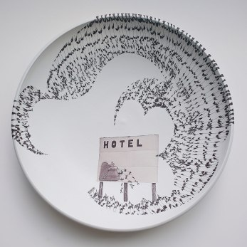 "Porcelain, Decal, 20""h x 20""w x 3""d"