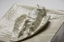 vitreous china, glaze, 10,5 in x 9 in x 5,5 in // 27 x 23 x 17 cm, 2017